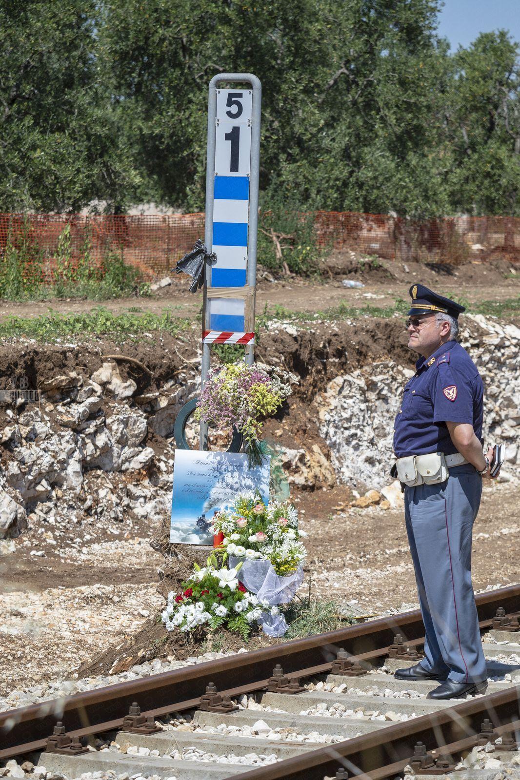 Ministro Toninelli sul luogo del disastro ferroviario nella tratta Corato-Andria