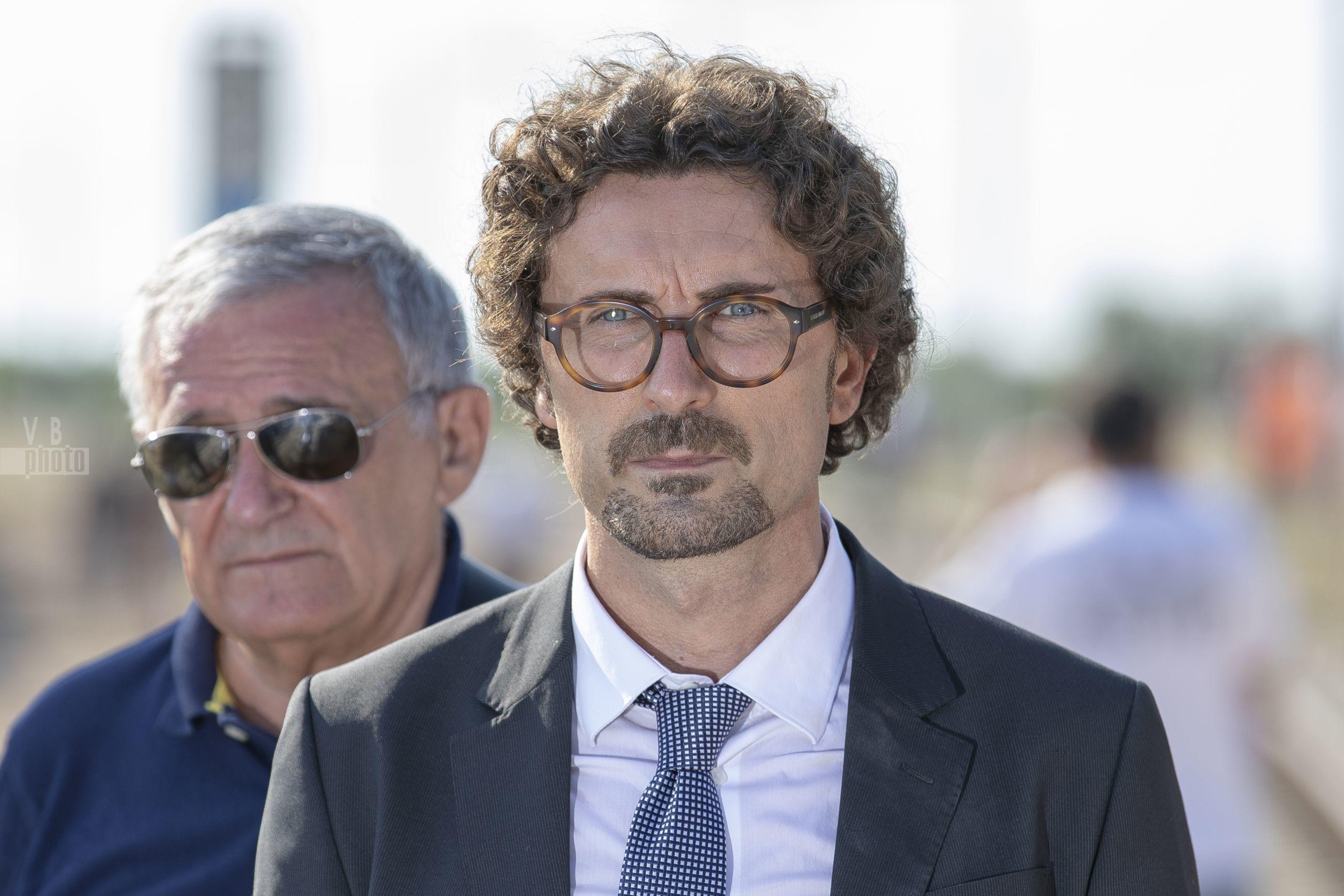 Il Ministro Toninelli sul luogo del disastro ferroviario nella tratta Corato-Andria - 12 luglio 2018